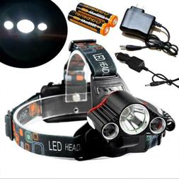 900000lm 3 x t6 rechargeable led headlamp