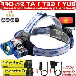 900000LM 3X T6 Rechargeable 18650 Headlamp Headlight Flashli