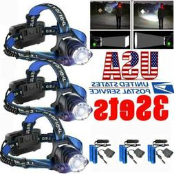 900000LM Rechargeable Headlight LED Headlamp Tactical Head T