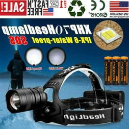 900000LM XHP70 LED Headlamp Zoom USB Rechargeable 18650 Head