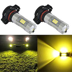 Alla Lighting 3200 Lumens Newest 2504 PSX24W LED Fog Light B