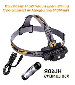 Bundle: Fenix HL60R Rechargeable LED Flashlight 950 Lumens H