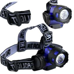 AAA Battery LED Headlamp Headlight Flashlight Outdoor Bright