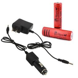 WindFire® AC wall Charger Car charger 2 x 18650 Battery Set