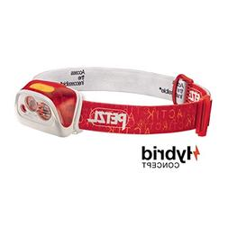 PETZL ACTIK CORE Rechargeable Headlamp, 350 Lumens: Red