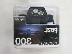 Petzl Actik Headlamp - Hybrid Concept - 300 Lumens - Black