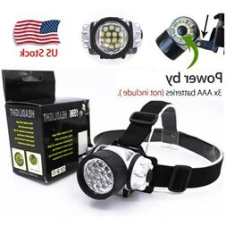 Adjustable 14 LED Headlamp AAA Camping & Hiking Mini Headlig
