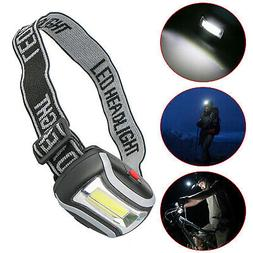 Adjustable COB LED Headlamp Torch Light 3 Modes Headlight Fl