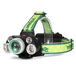 35000LM Adjustable Headlight 5x CREE XM-L T6 18650 LED Super