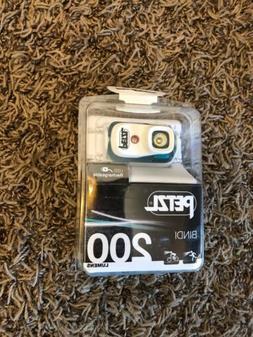 Petzl Bindi Active Headlamp 200 Lumens Blue USB Rechargeable
