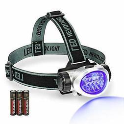 EverBrite Black Light Headlamp UV Blacklight for Spot