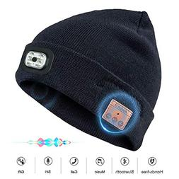 Bluetooth Beanie Hat with Wireless Headphone Headset Speaker