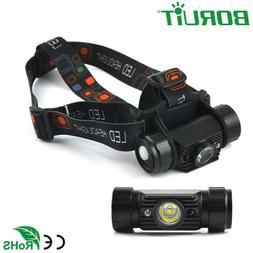BORUiT Mini IR Sensor Headlamp Induction Flashlight USB Rech