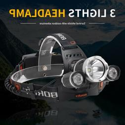 BORUiT RJ-5000 XM-L LED Headlamp hunting Headlight 18650 Bat