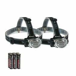 2 X Bright LED Headlamp Flashlight Headlight Head Light Camp