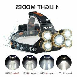 Brightest Headlamp Flashlight,USB Rechargeable Head Lamp wit
