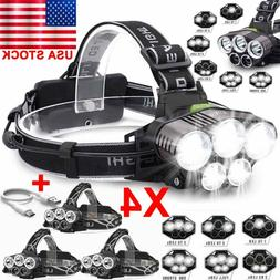 Camping 150000LM T6 LED Headlamp Headlight Torch Rechargeabl