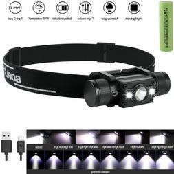 BORUiT CE 40W 13000LM 3*XM-L L2 LED USB Headlamp Headlight T