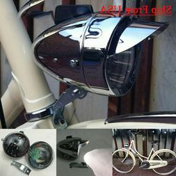 Classical Chrome Vintage Bicycle Bike LED Light Headlight Fr