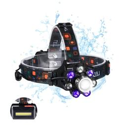 COBA Headlamp LED Work Headlight with 18650 USB Rechargeable