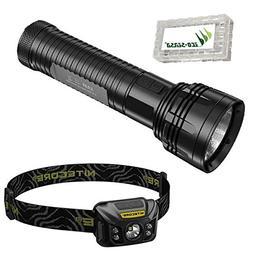 Combo: Nitecore EA81 Flashlight -2150Lm + Nitecore NU30 Rech