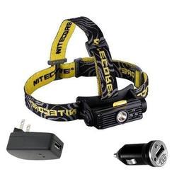 Combo: Nitecore HC90 Rechargeable XM-L2 LED Headlamp w/USB C