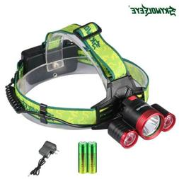 CREE 3 Led T6 Super Bright Headlamp Rechargeable Headlight +