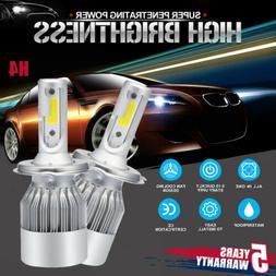 CREE H4 LED Headlight Kit Light Bulbs Hi/Lo Beam 6000K 9003