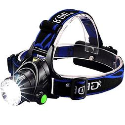 1800 Lumens CREE LED Headlamp Super Bright Waterproof Zoomab