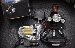 Cree 12000 Lumen Headlamp Xm-L 3 X T6 Led Adjustable Headlig