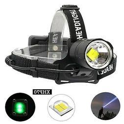 BESTSUN CREE XHP70 LED Headlamp Rechargeable, 10000 Lumen He