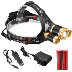 4000LM CREE XM-L T6 LED HeadLamp Focus Headlight Zoomable +