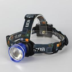 BESTSUN Super Bright LED Headlamp, T6 LED 2000 Lumens Focus