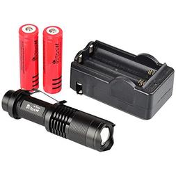 WindFire CREE XML-T6 U2 LED 1800 Lumens ZOOMABLE 5 Modes Fla