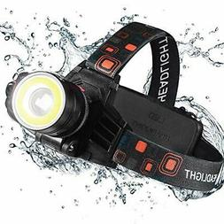 Durable LED Headlamp - Rechargeable & Zoomable for Biking &