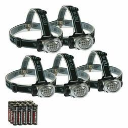 Everbrite 5-Pack Led Headlamp Flashlight For Running, Campin