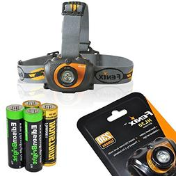 Fenix HL30 200 Lumen LED Headlamp with 2 X EdisonBright AA b