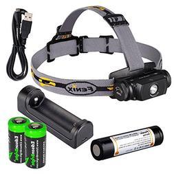 Fenix HL55 900 Lumen CREE LED Headlamp with Fenix ARE-X1 bat