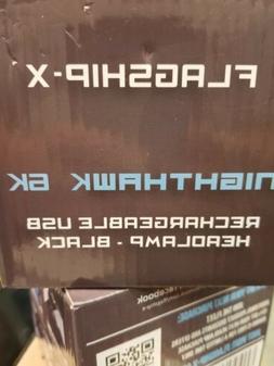 Flagship-X Camping Headlamp Flashlight Nighthawk USB Recharg