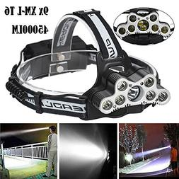 COOKI LED Headlamp Flashlight, Brightest 45000LM Flashlight