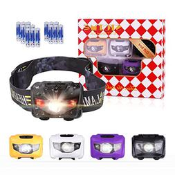 Gift Package- 5 Pack Headlamps Flashlight, STCT Cree LED Hea