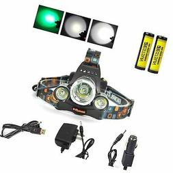 BESTSUN Green Color Light Headlamps Green Coyote Hog Hunting