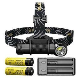 NITECORE HC33 1800 Lumen LED Headlamp w/ 2x NL1835HP Batteri