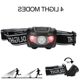Head Lamp Headlight Hands-Free Strap Red White Waterproof To