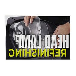 Head Lamp Refinishing Indoor Store Sign Vinyl Decal Sticker