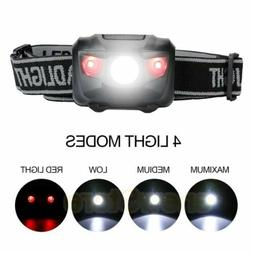 head lamp waterproof white led red flashlight