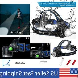 Head Lamps and Flashlight Combo with Zoom for Adults LED Rec