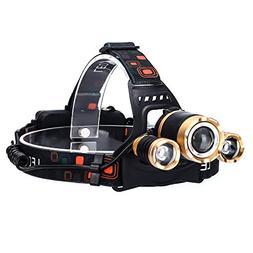 Edomi Headlamp, Head Lamp 6000Lm LED Rechargeable Headlight