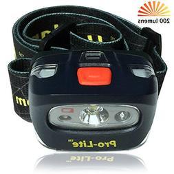 Headlamp, Super Bright 200 lumen LED Headlight. Comfortable