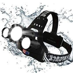 DanForce Headlamp Brightest Head Lamp Providing 1080 Lumens